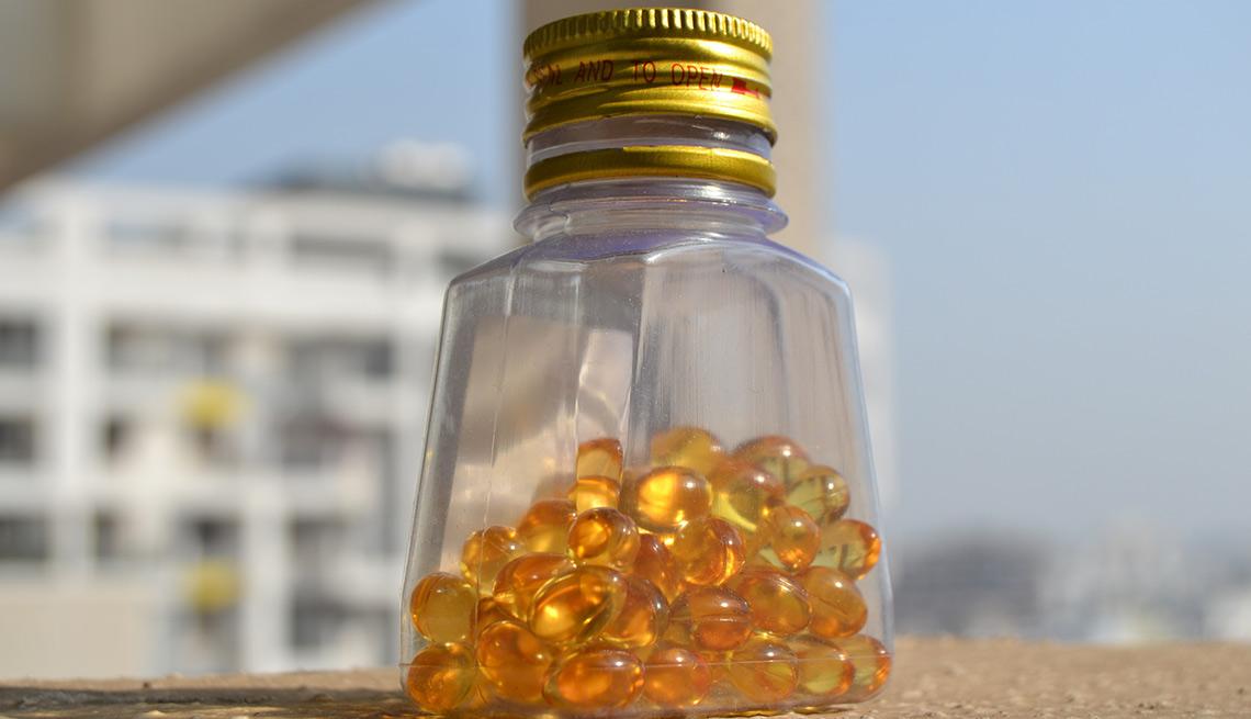 Frasco de vitaminas - Combatir la inflamación