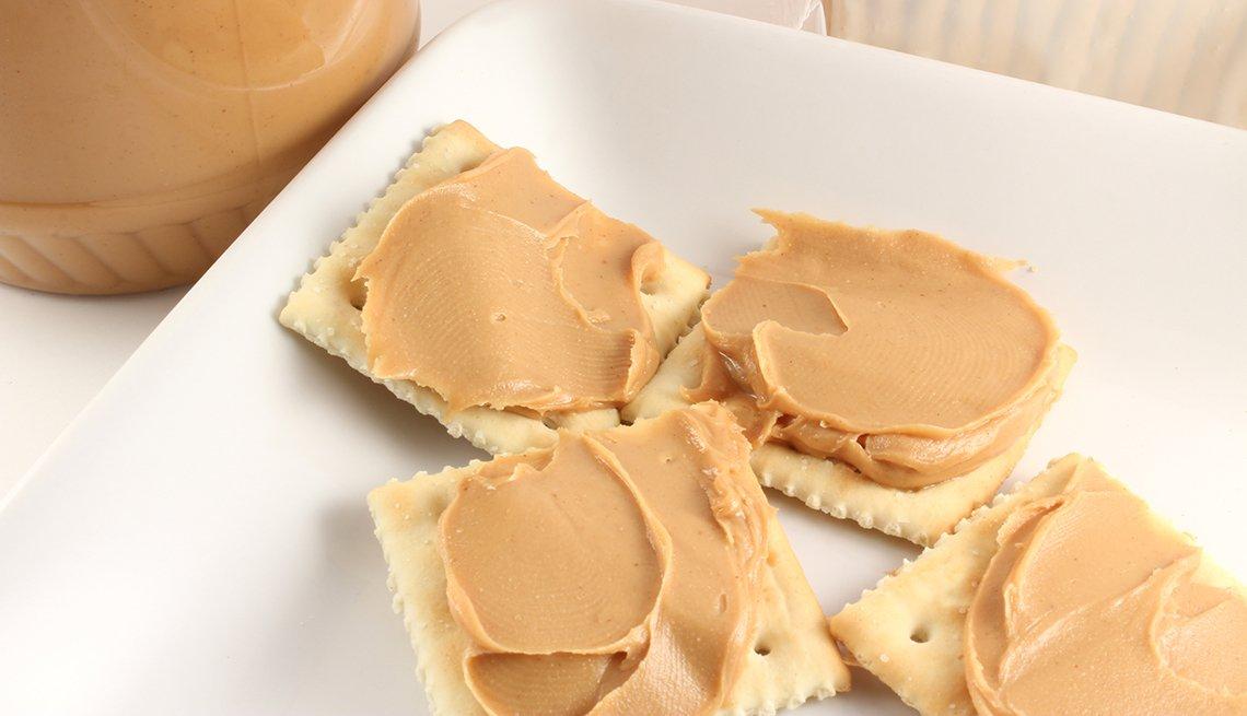 Galletas con mantequilla de maní