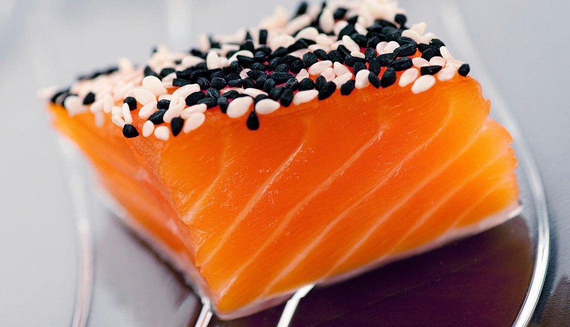 Pedazo de salmón