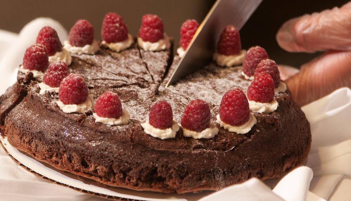 Torta de chocolate y frambuesas - Combatir la inflamación