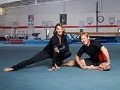 Nadia Comaneci y Bart Conner, gimnastas olímpicos
