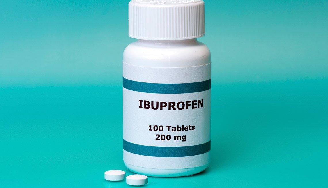 Botella de ibuprofen