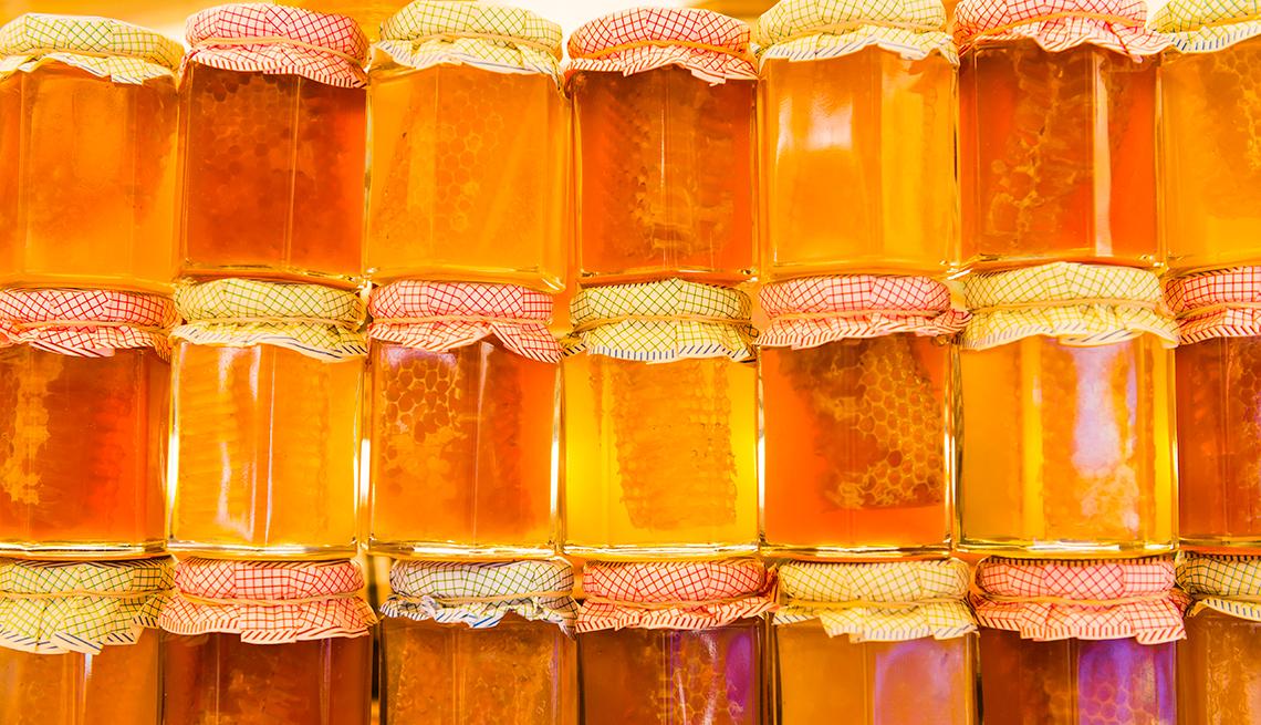 Frascos con miel