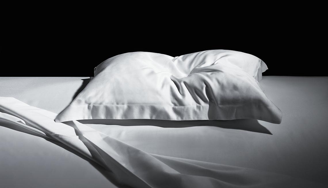Almohada en una cama