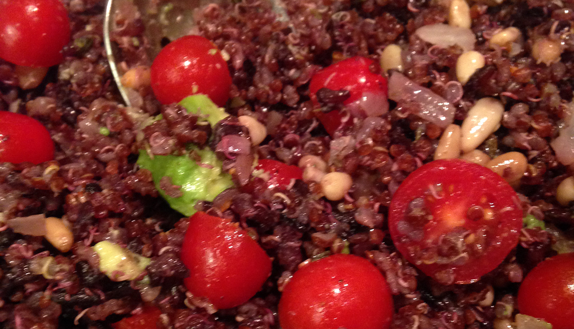 Quinoa, black rise and tomatoes, Thanksgiving Recipes and Not a Pinch of Guilt