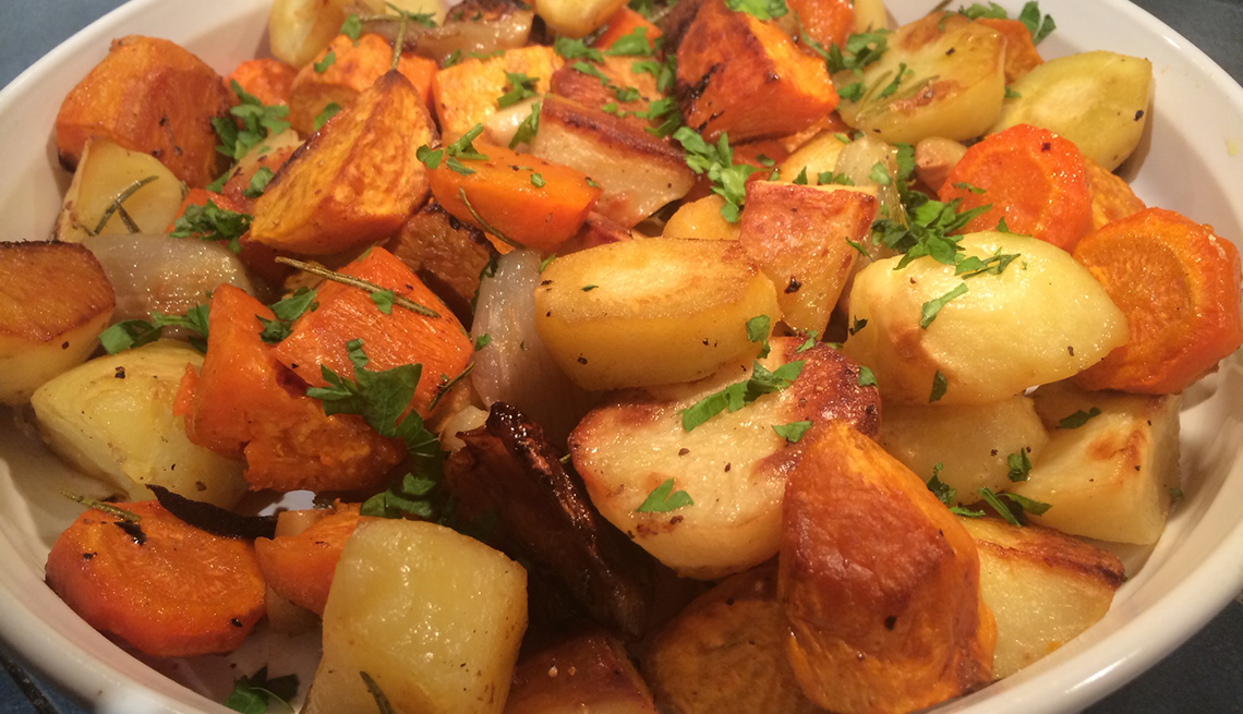 Roasted winter vegetables, Thanksgiving Recipes and Not a Pinch of Guilt