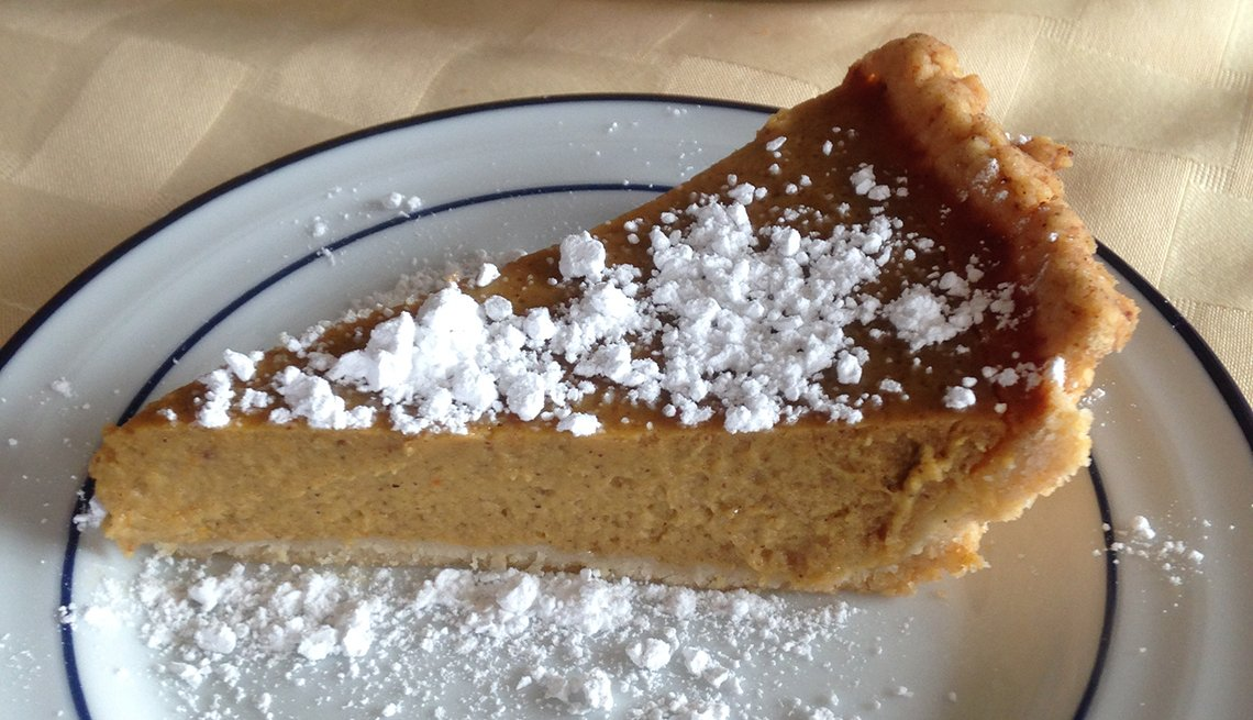 Pumpkin pie slice, Thanksgiving Recipes and Not a Pinch of Guilt