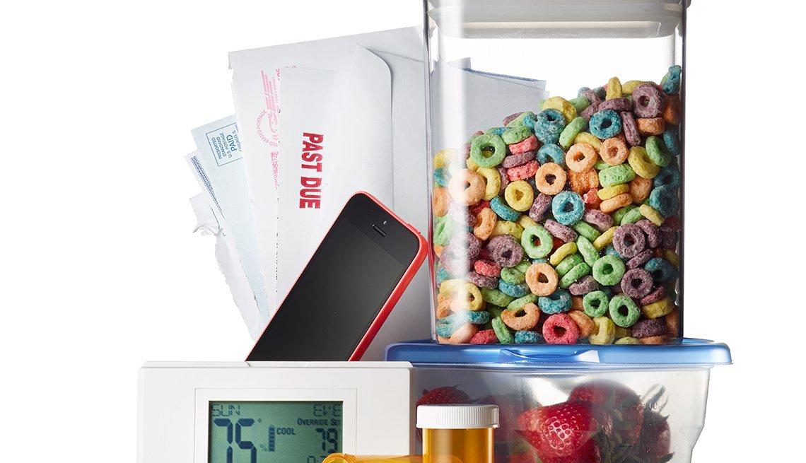 Imagen de objetos y alimentos que te hacen aumentar de peso