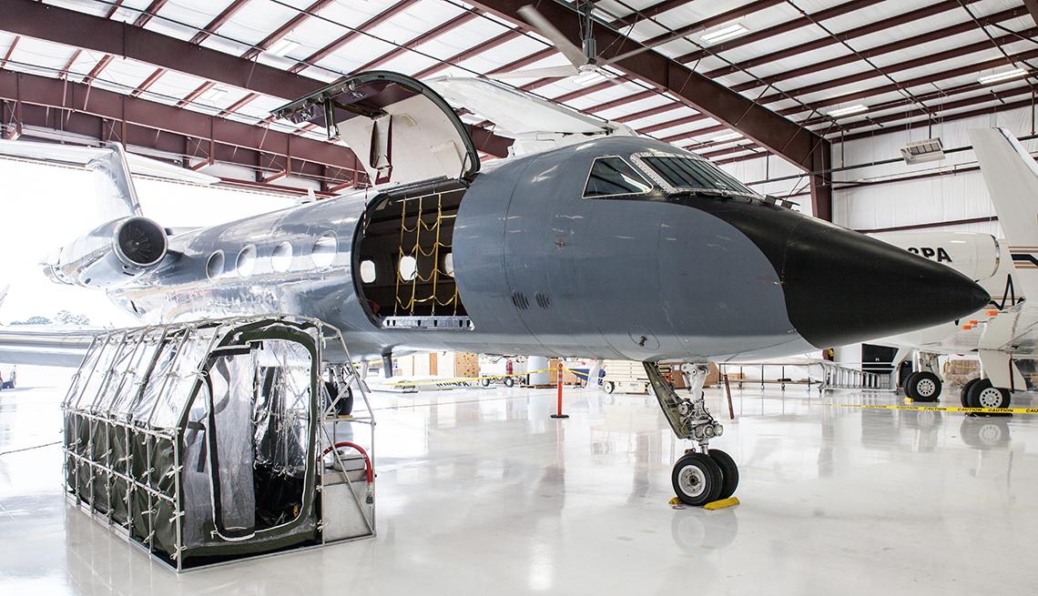 Avión utilizado para transportar a paciente con ébola