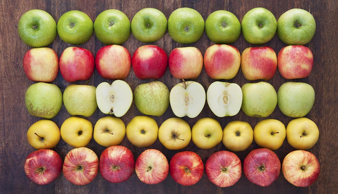 Apples in grid display, Fat Busting Fall Foods