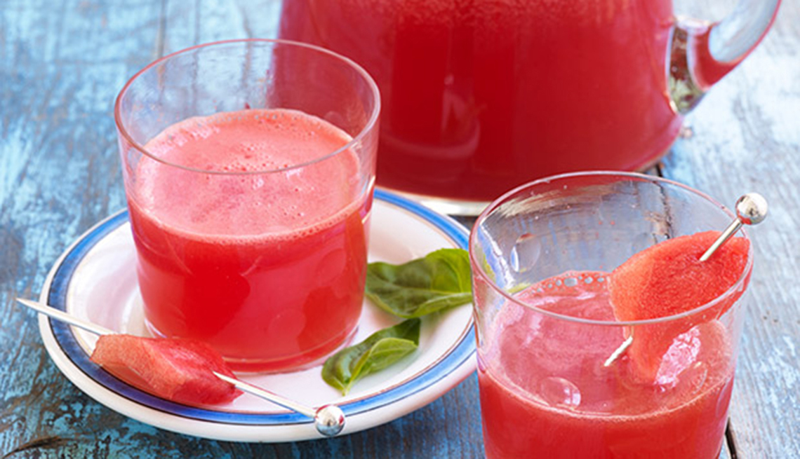 Watermelon juice in a glass, Health Boosters