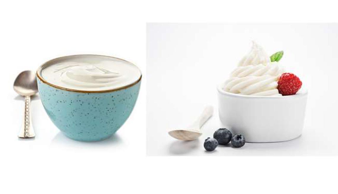 Yogur entero versus yogur griego