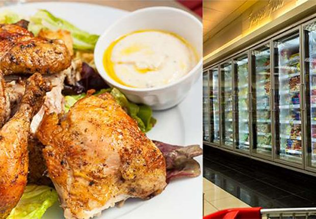 Pollo asado versus comida congelada