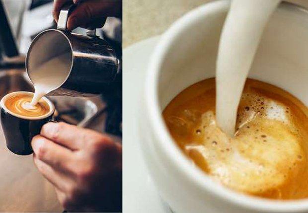 Café con crema o leche