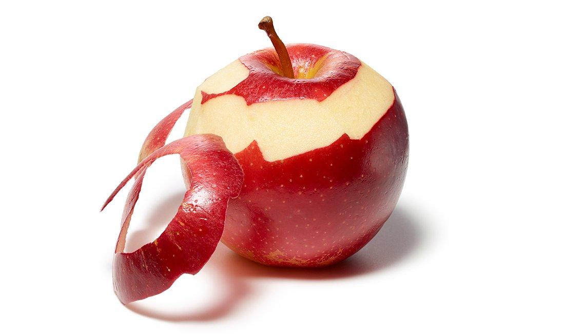 Manzana mondada parcialmente