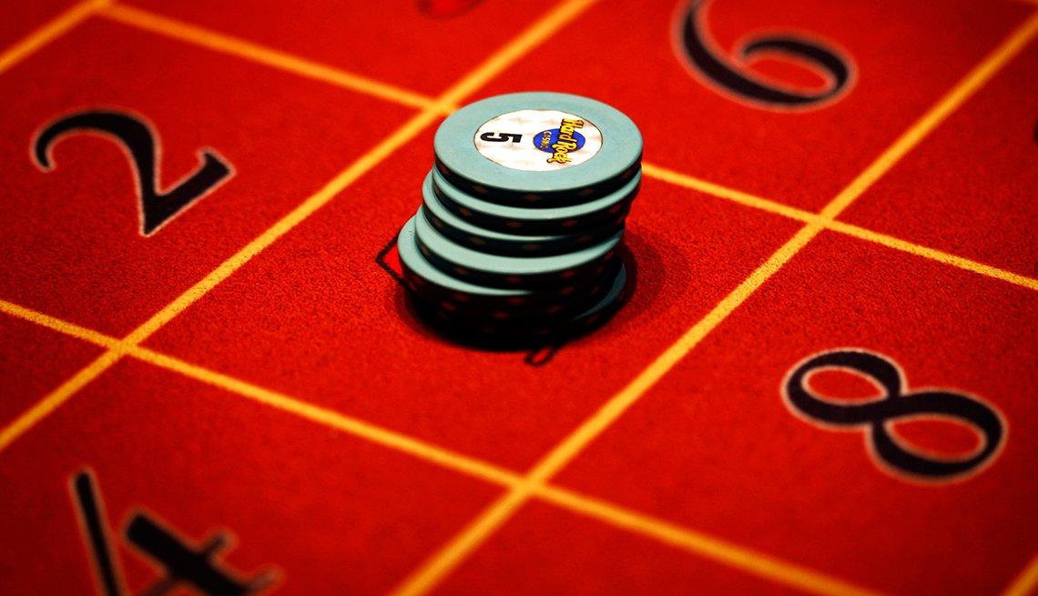 Juego de casino y fichas