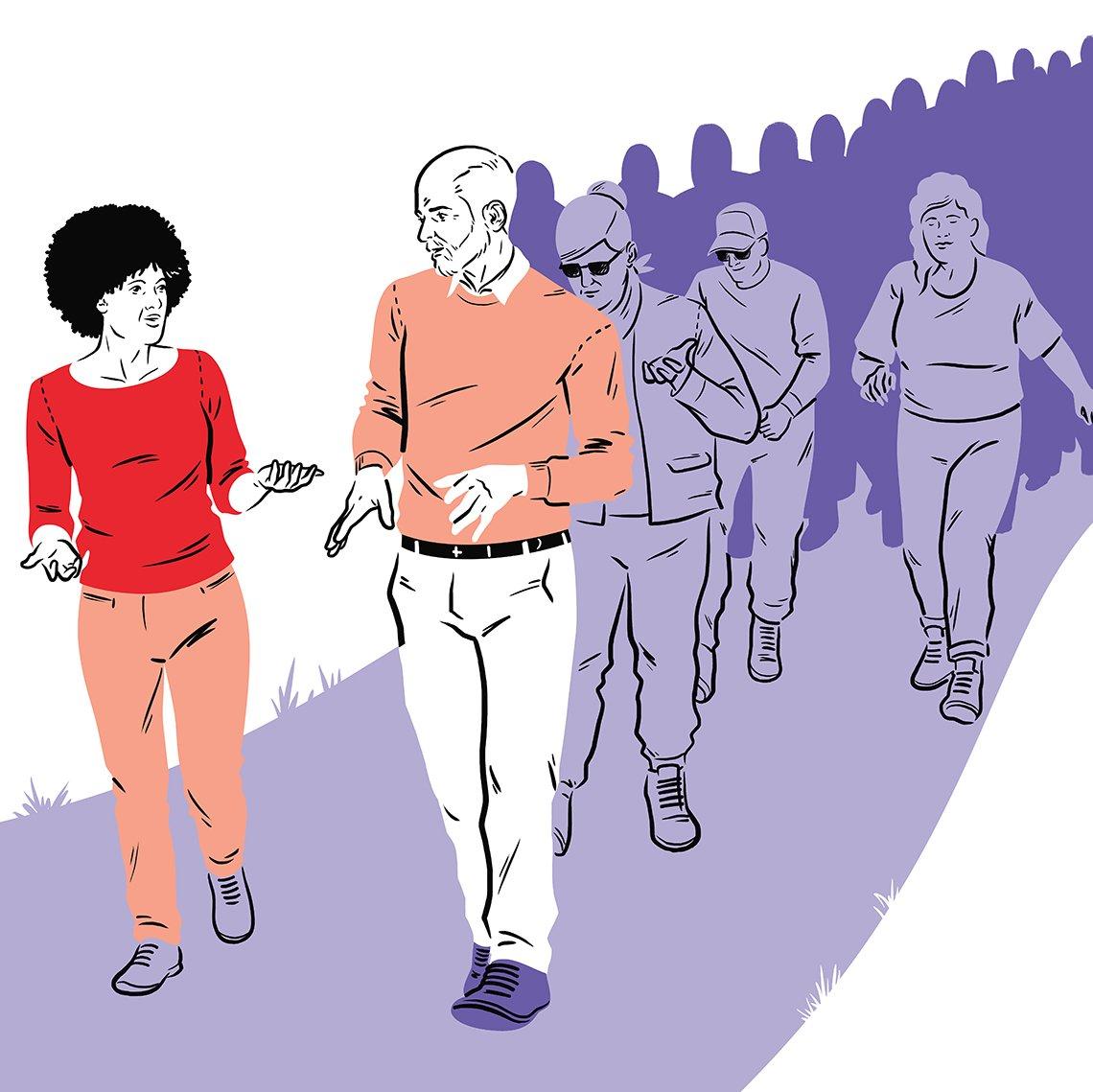 Socializers walk