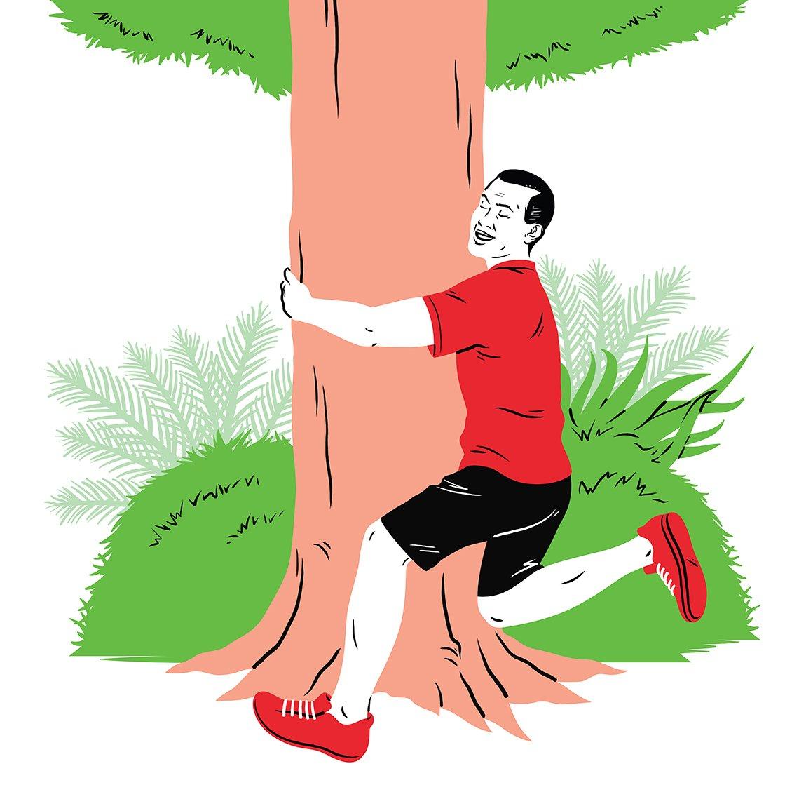 Tree huggers walk