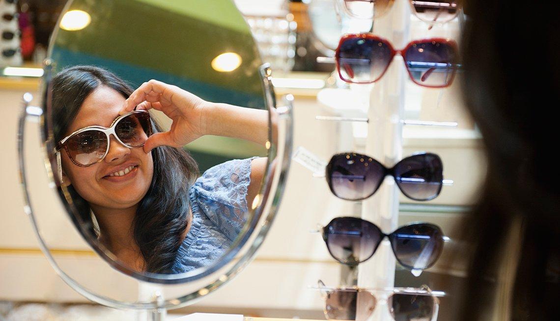 Women Shopping for Sunglasses