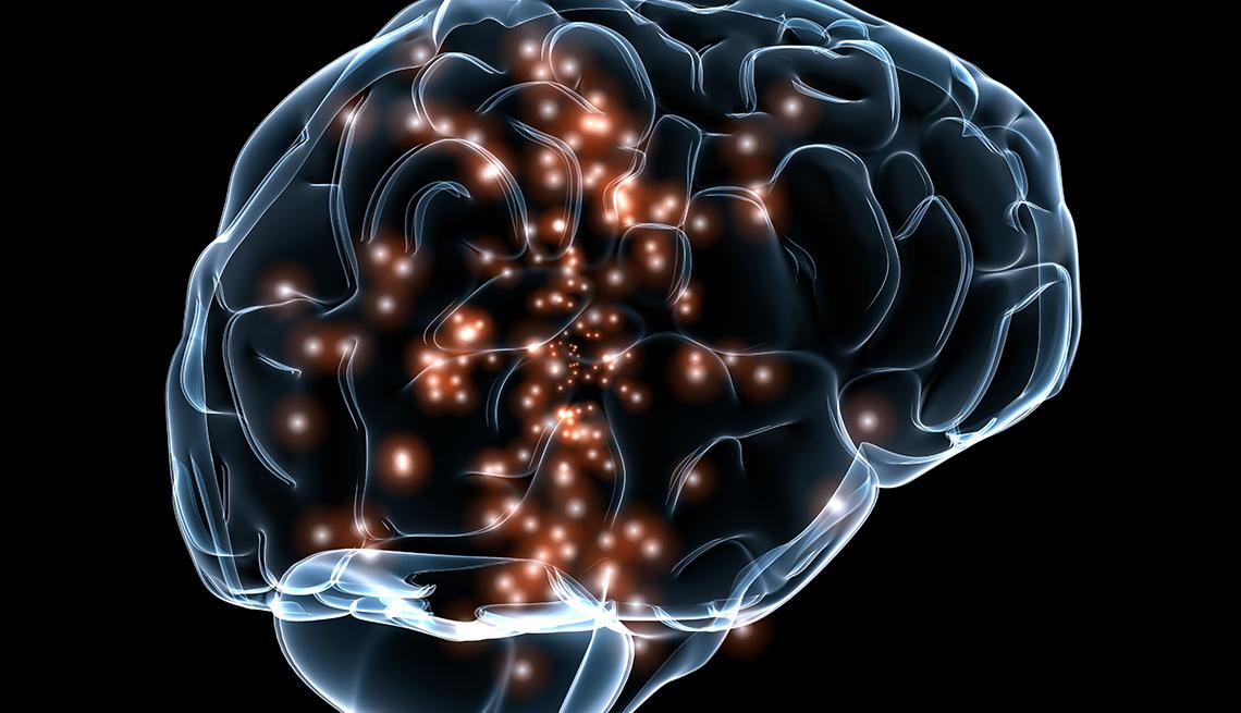 Gráfico de un cerebro activo