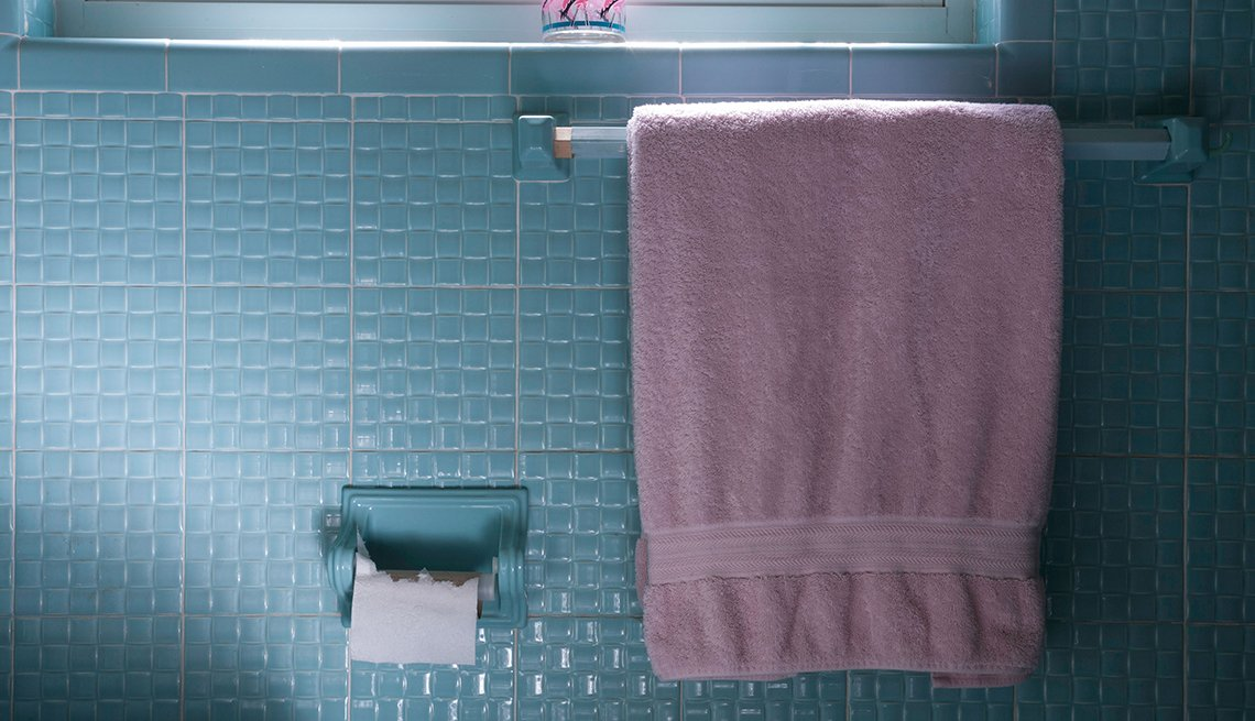 Toalla en el baño