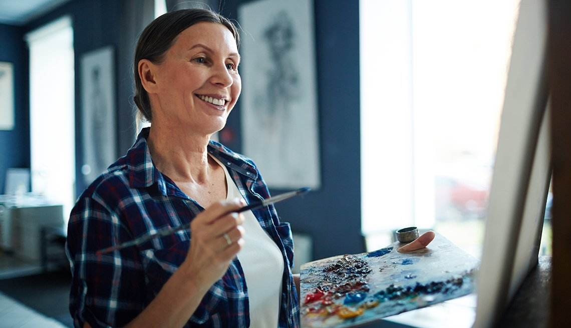 Painting and other activities improve brain health