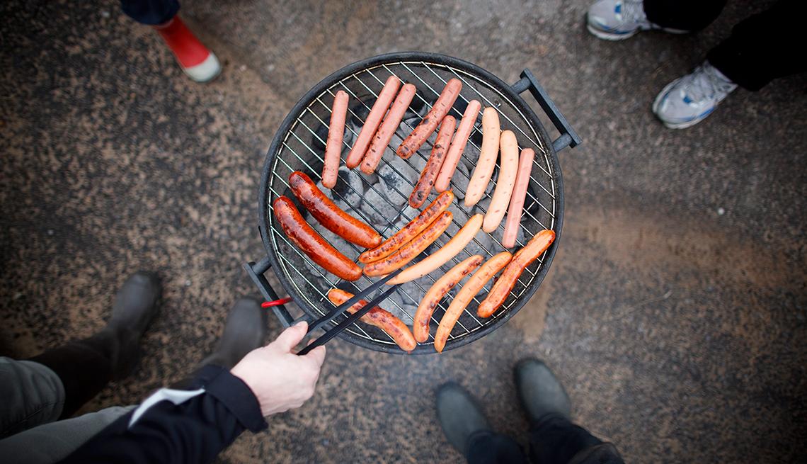 Hot Dogs a la barbacoa