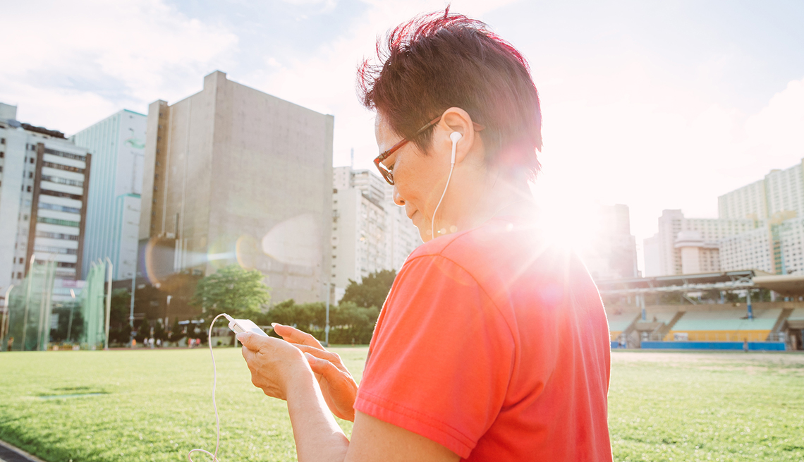 Woman Listening to Music, Coach Potato Syndrome, Healthy Living