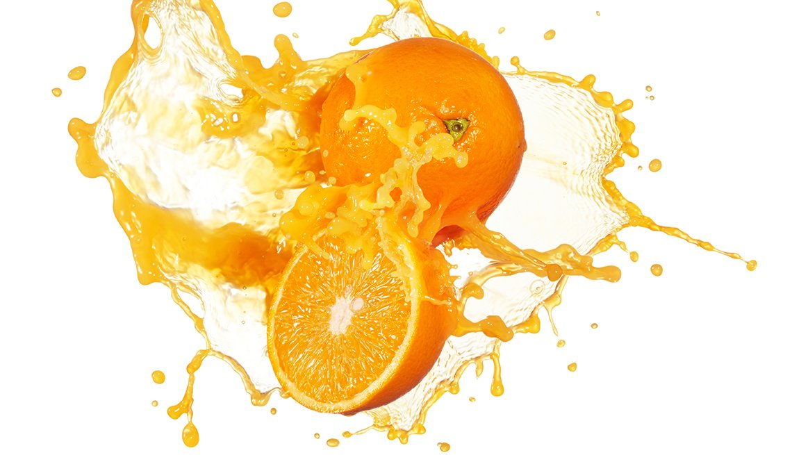 Oranges and Juice in Splash, Halve Your Sugar, Healthy Living