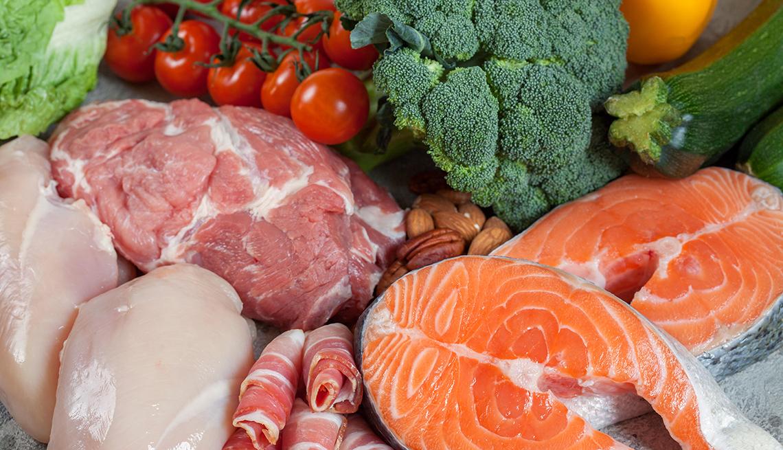 Vegetales, carnes y pescados