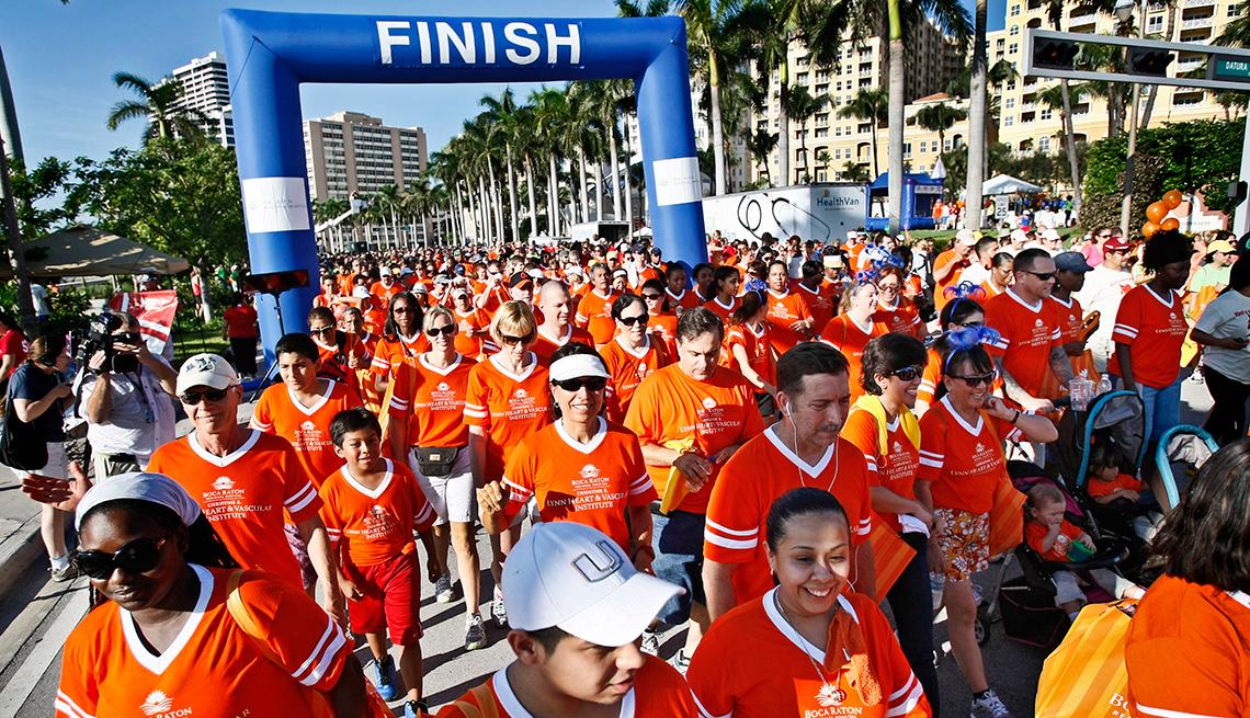 American Heart Association's Heart Walk in West Palm Beach, Florida