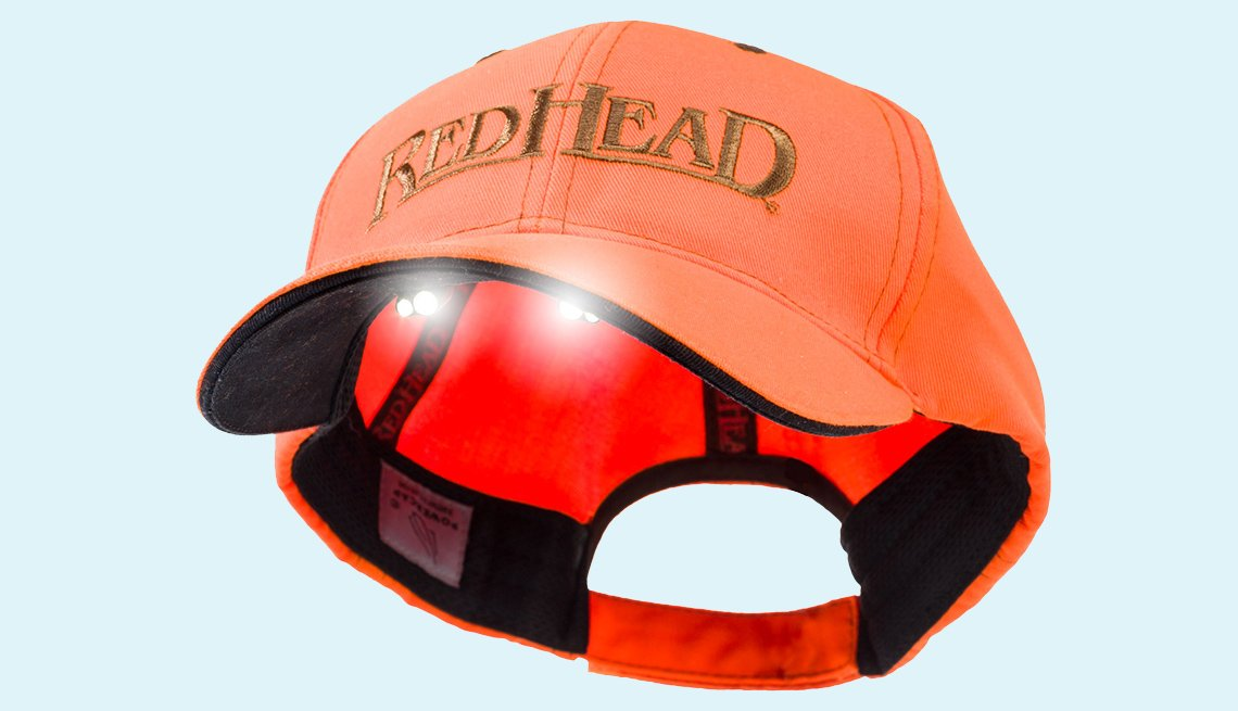 item 5, Gallery image. RedHead LED Lighted Cap from Bass Pro Shops; $25