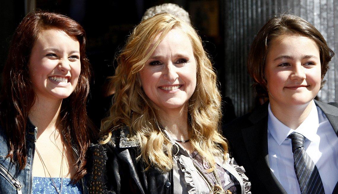 Melissa Etheridge junto a sus hijos