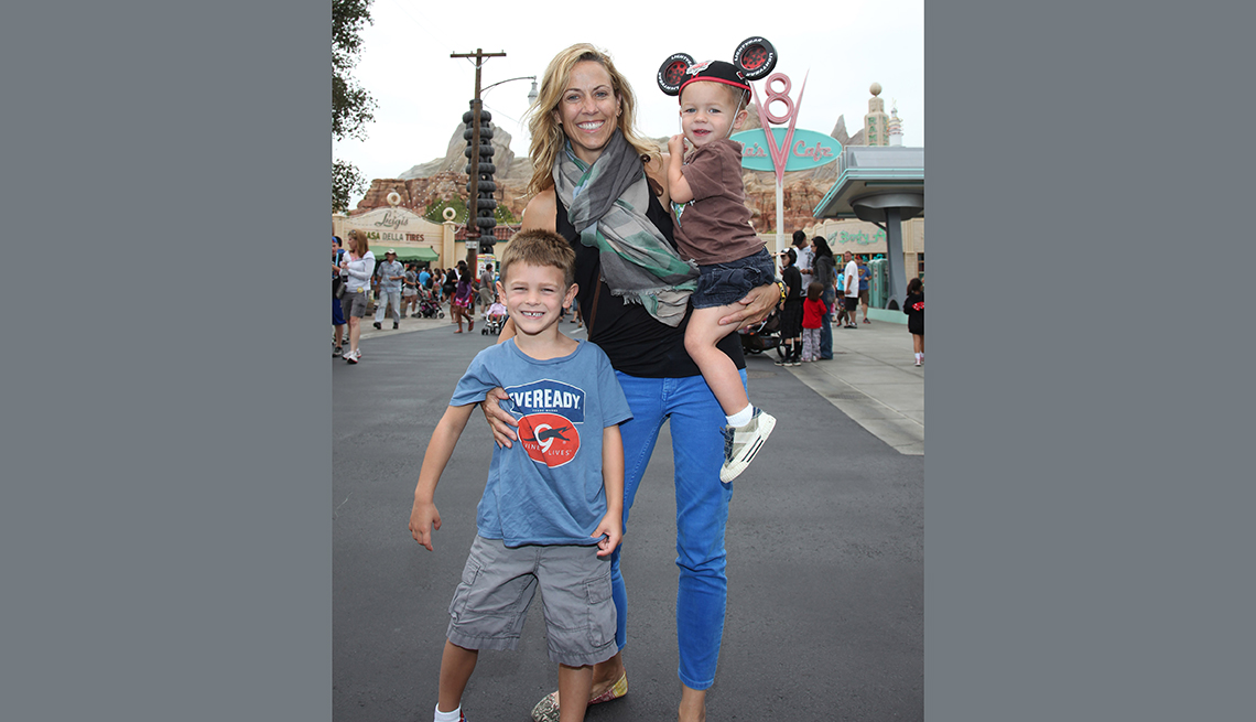 Sheryl Crow junto a sus hijos