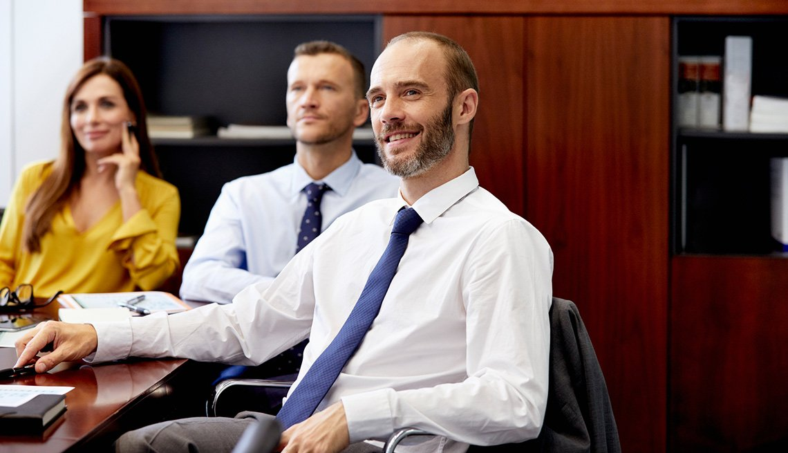 Ejecutivos en una reunión