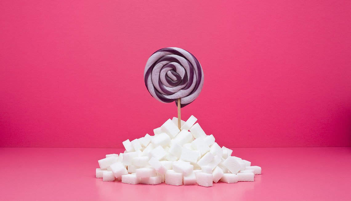 Paleta y cubos de azúcar