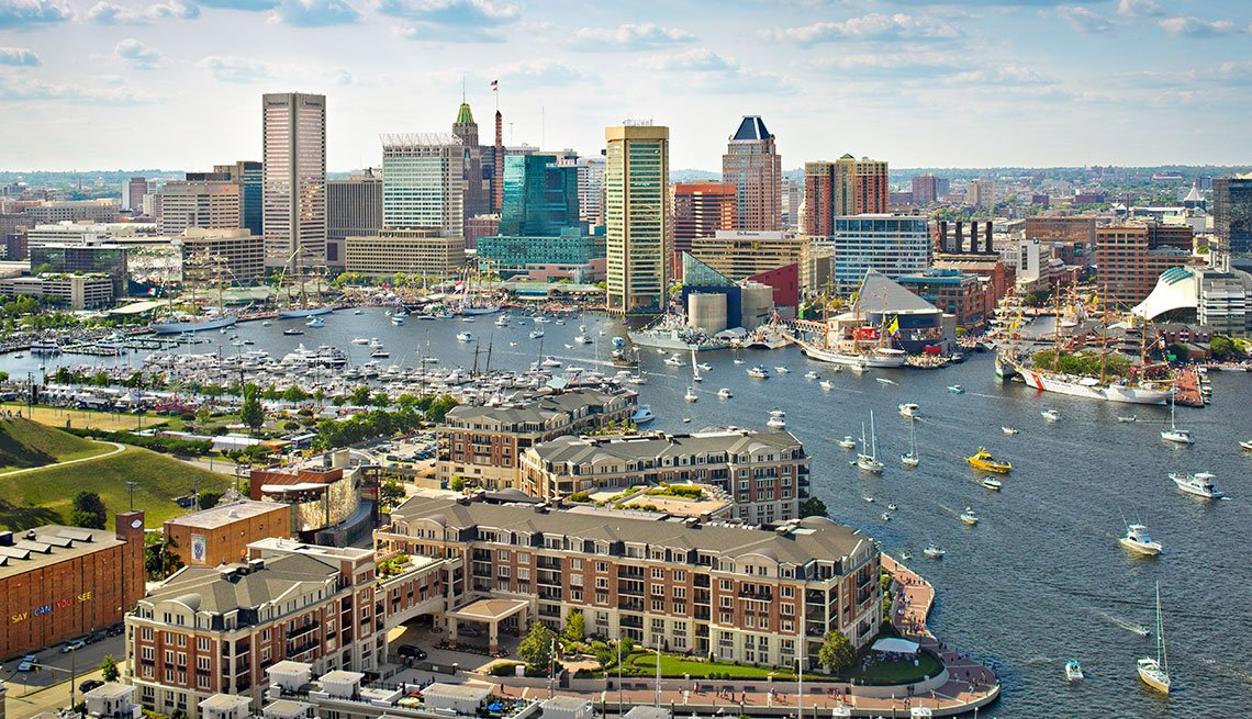 The skyline of Baltimore