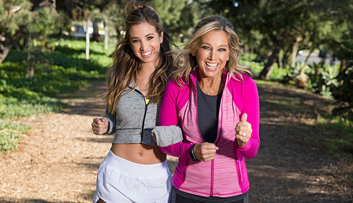 Denise Austin and daughter