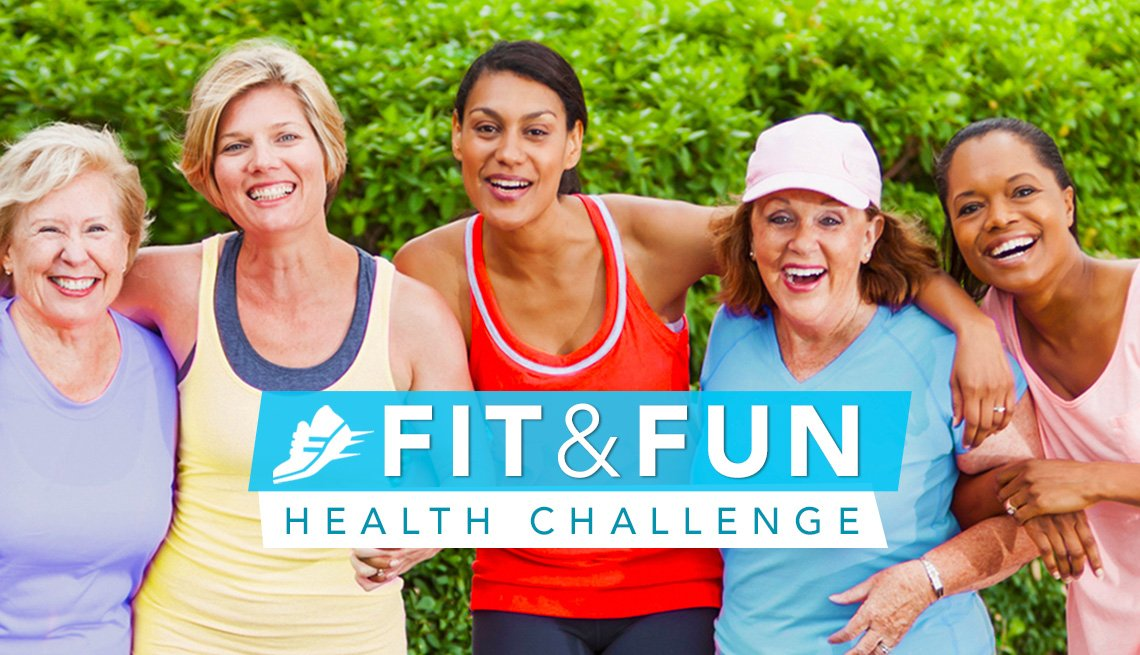 Fit & Fun Health Challenge, women in athletic clothing with their arms around each other's shoulders
