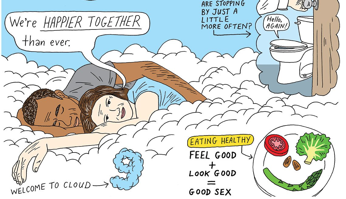 Illustrations showing what to expect when you're in your 60s
