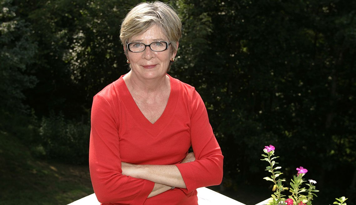 Author Barbara Ehrenreich poses at her home in Charlottesville