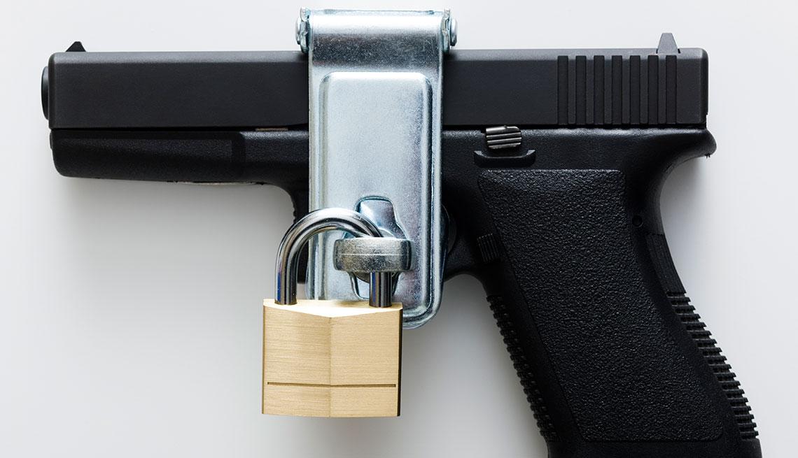 a lock on a gun