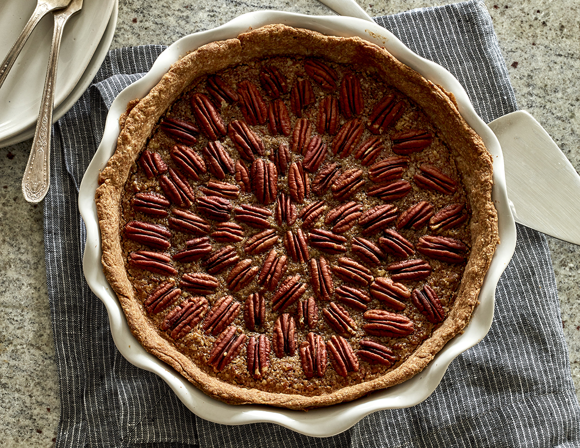 Image of a vegan pecan pie