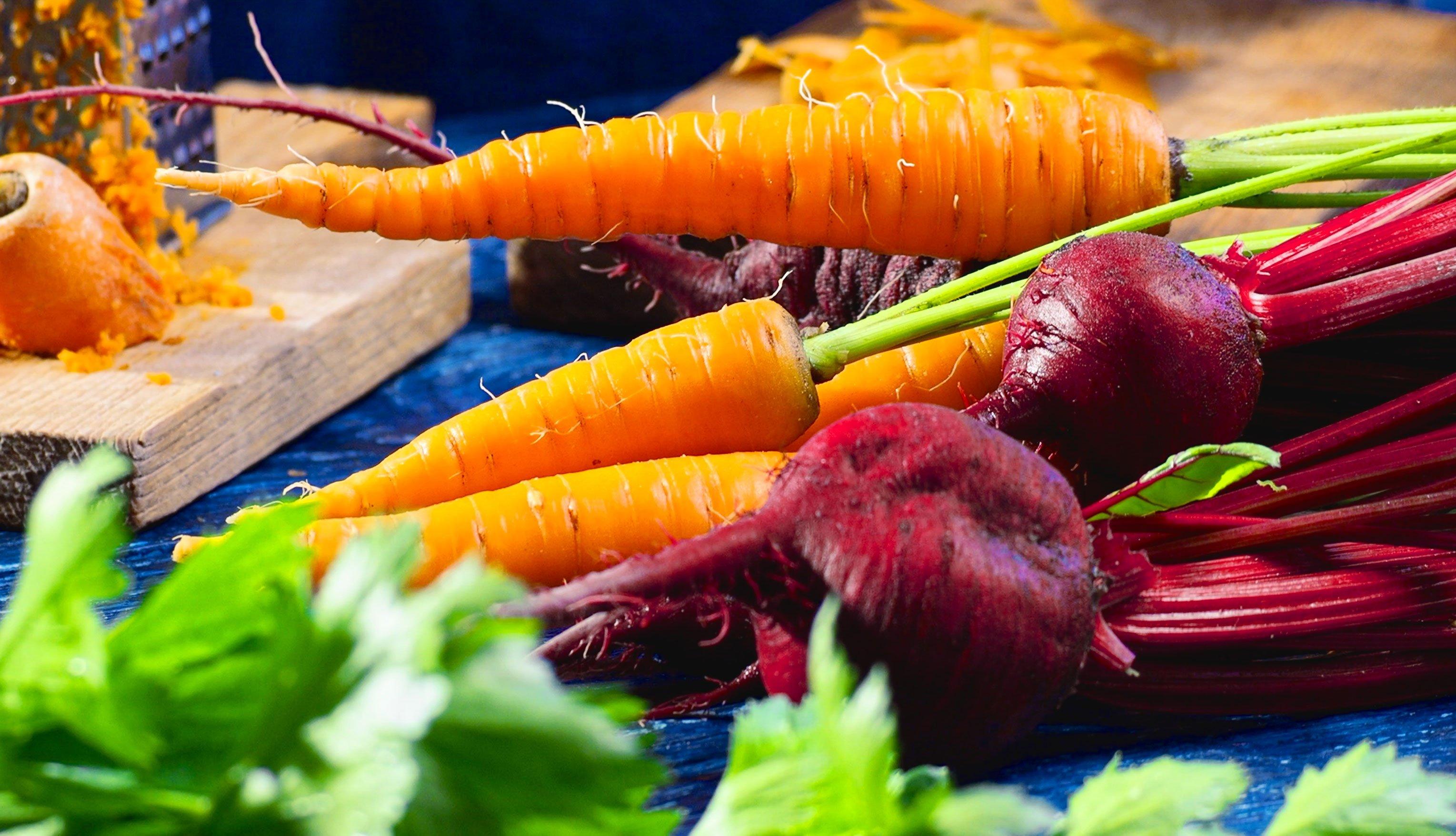 Zanahorias y remolachas