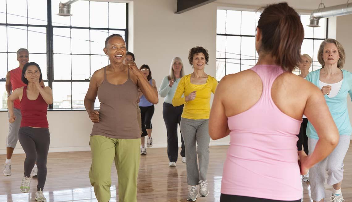 Mature Adults Exercising
