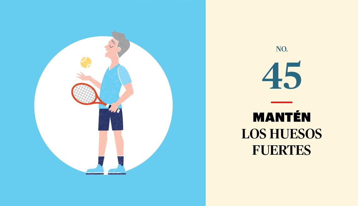 Gráfico de un hombre listo para jugar tenis