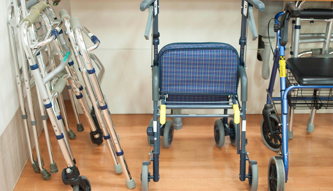 Walkers in a nursing home