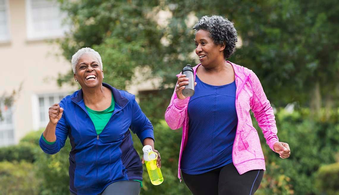 Women exercise walking