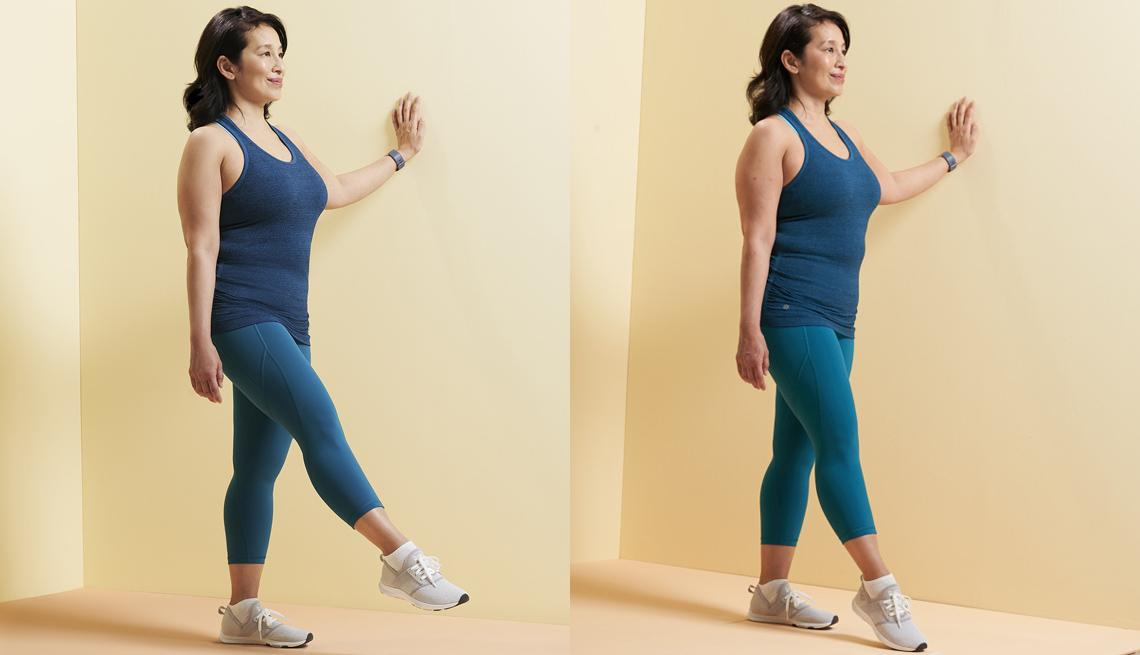 Toe tap balance exercise