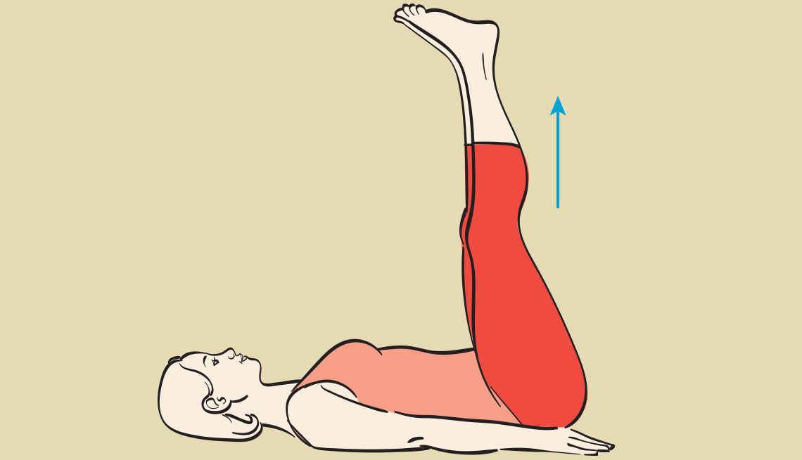 Toes up balance exercise